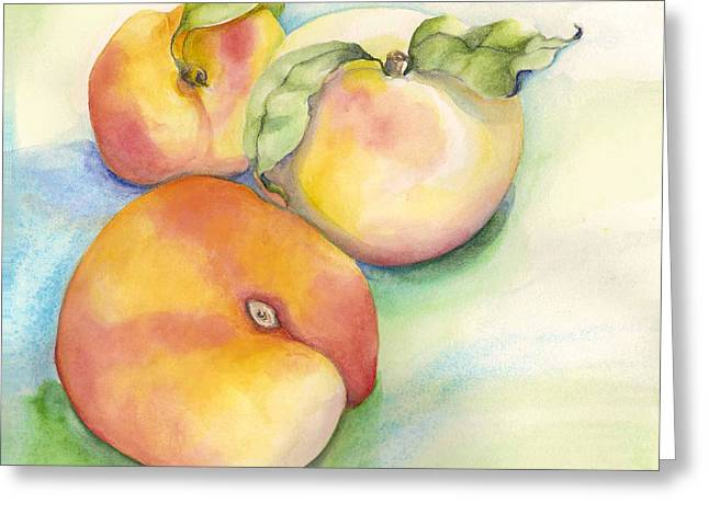 Peach Time Greeting Card