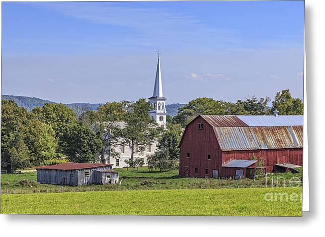 Peacham Vermont Idylic Vermont Scene Greeting Card by Edward Fielding