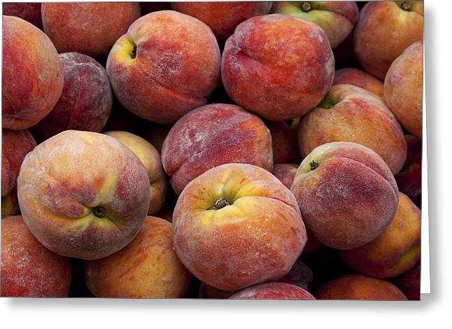 Peaches 3 Greeting Card by Robert Ullmann