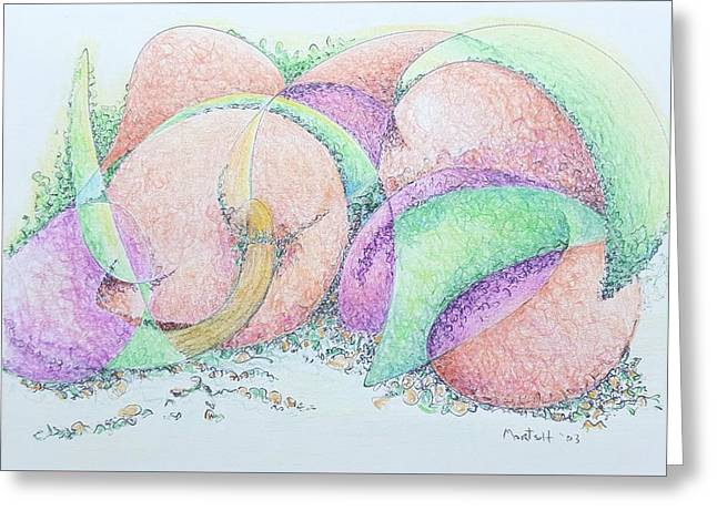 Peaches And Plums Greeting Card