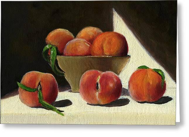 Peaches Greeting Card by Karyn Robinson