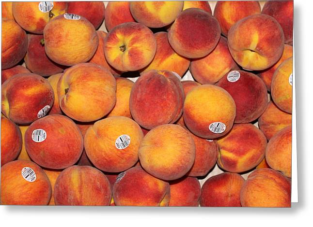 Peaches Greeting Card by Lauri Novak