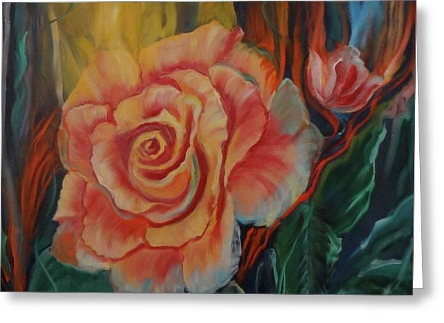 Peachy Rose Greeting Card