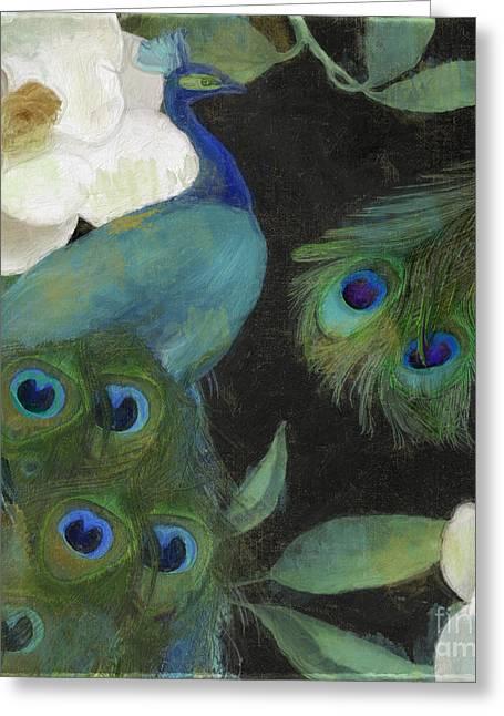 Peacock And Magnolia II Greeting Card
