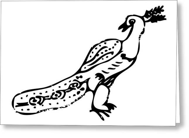 Peacock Bird Greeting Card by Karl Addison