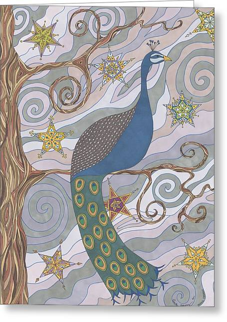 Peacock Dream's Greeting Card