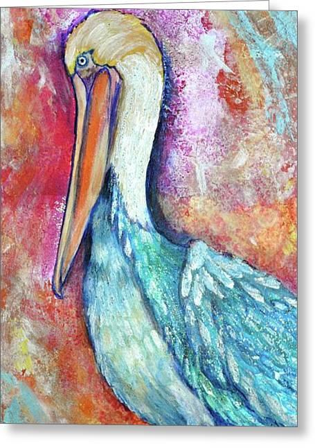 Peacock Envy Greeting Card by Debi Starr