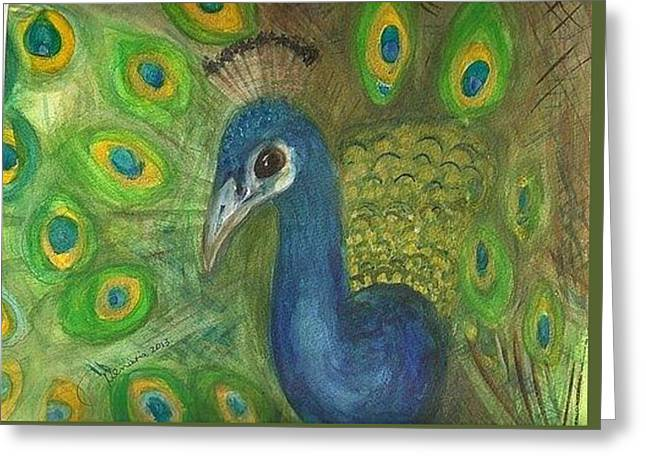 Peacock For My Sister Greeting Card by Denise Marie Johnson