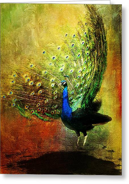 Peacock In Full Color Greeting Card