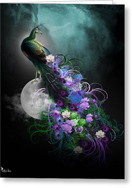 Peacock Of  Flowers Greeting Card