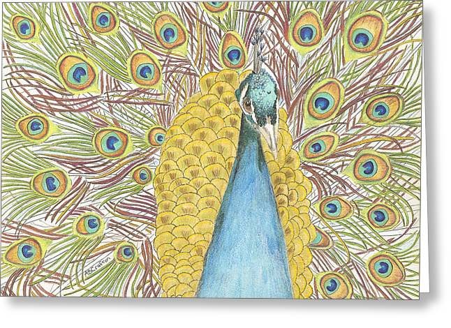 Peacock One Greeting Card