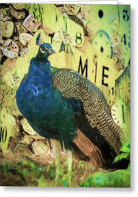Peacock Time Greeting Card