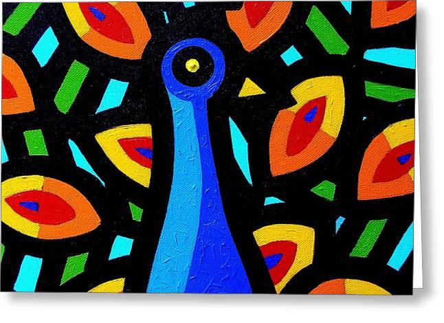 Peacock Vi Greeting Card