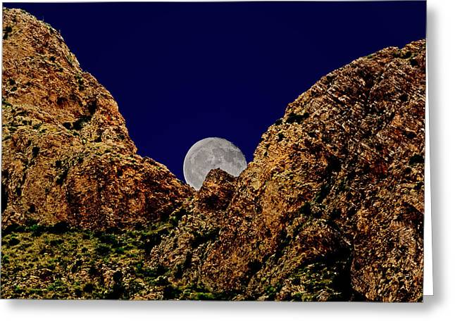 Peak Full Moon H03 Greeting Card