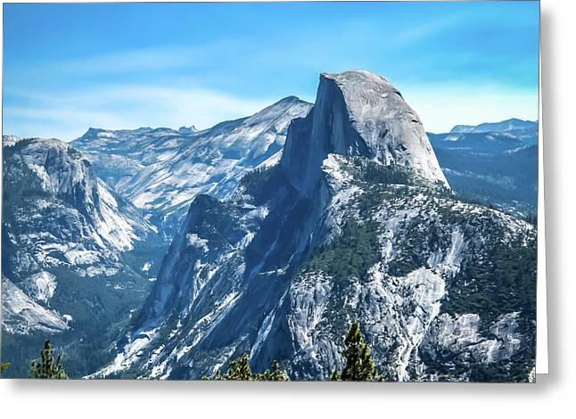 Peak Of Half Dome- Greeting Card