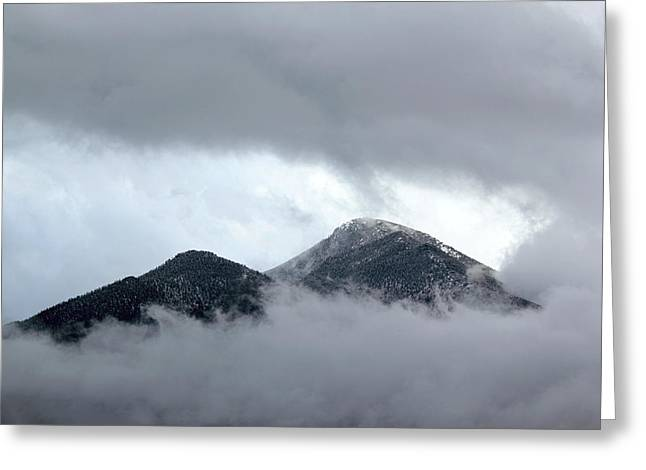 Peaking Through The Clouds Greeting Card
