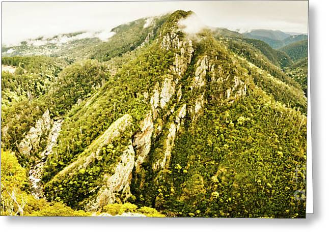 Peaks And Troughs Greeting Card