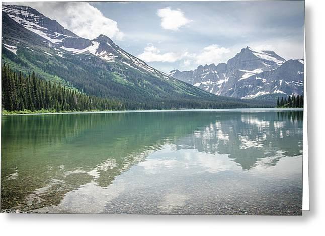 Peaks At Lake Josephine Greeting Card