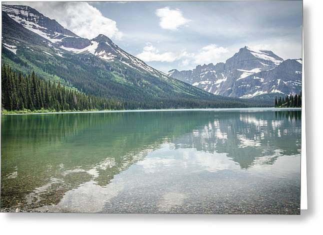 Peaks At Lake Josephine Greeting Card