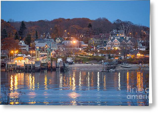Peaks From House Island Greeting Card by Benjamin Williamson