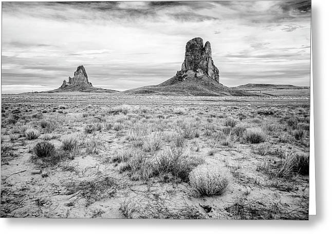 Peaks In The Valley Greeting Card by Jon Glaser