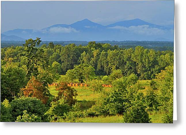 Peaks Of Otter After The Rain Greeting Card by The American Shutterbug Society