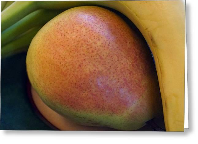 Pear And Banana Greeting Card