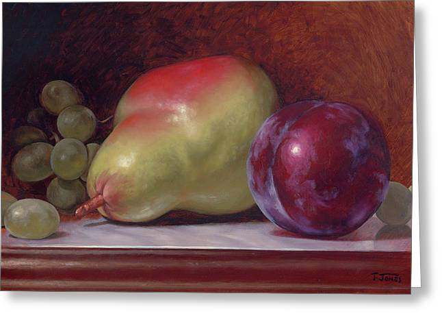 Pear And Plum Greeting Card