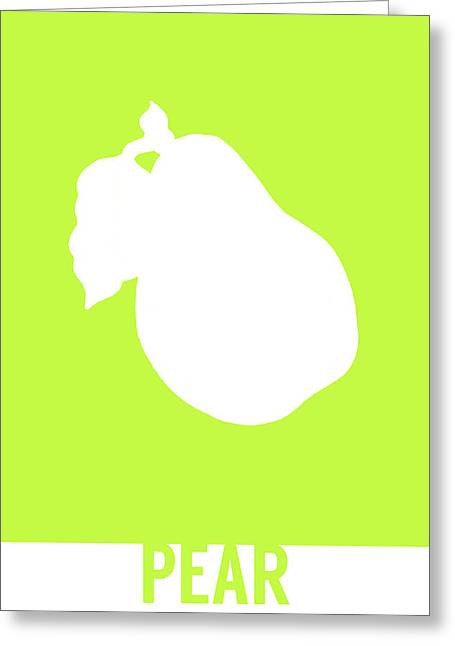 Pear Food Art Minimalist Fruit Poster Series 009 Greeting Card