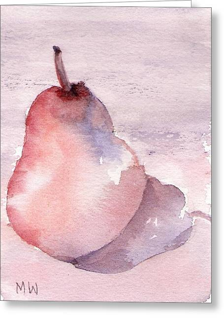 Pear In Purple Greeting Card
