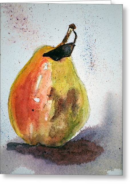 Pear Study Greeting Card by Neva Rossi