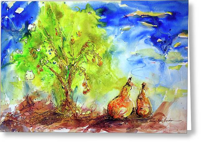 Pear Tree And Two Greeting Card