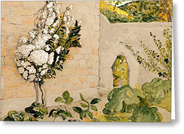 Pear Tree In A Walled Garden Greeting Card by Samuel Palmer