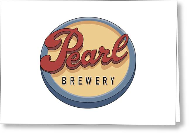 Pearl Brewery Sign Greeting Card