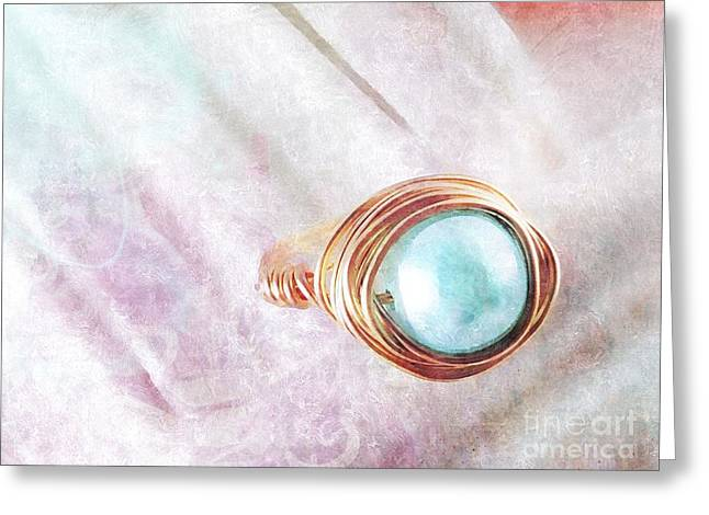 Pearl Cocktail Ring Greeting Card