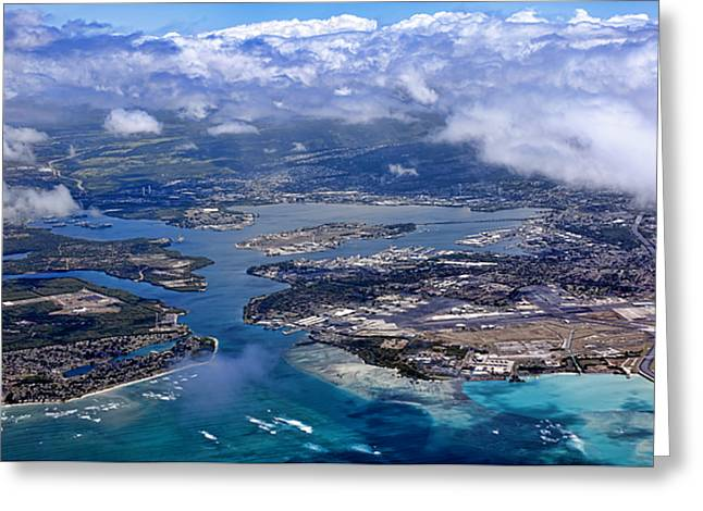 Pearl Harbor Aerial View Greeting Card