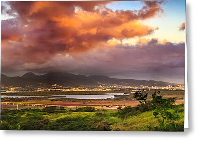 Pearl Harbor Sunset Greeting Card