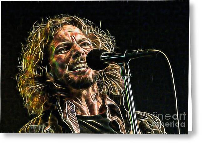 Pearl Jam Eddie Vedder Collection Greeting Card