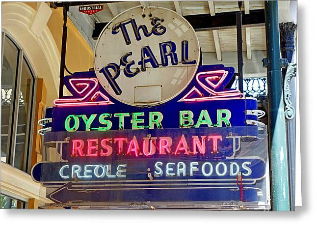 Pearl Oyster Bar Greeting Card