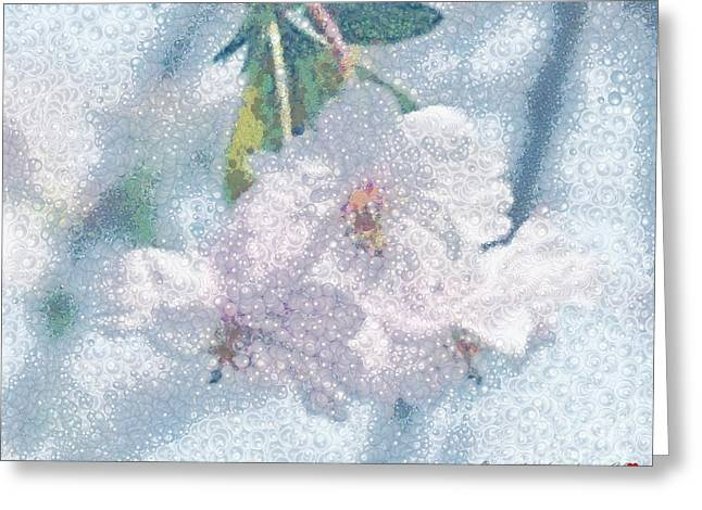 Pearlesque Floral Greeting Card by Catherine Lott