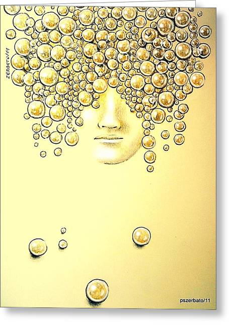 Pearls Of Wisdom Greeting Card by Paulo Zerbato
