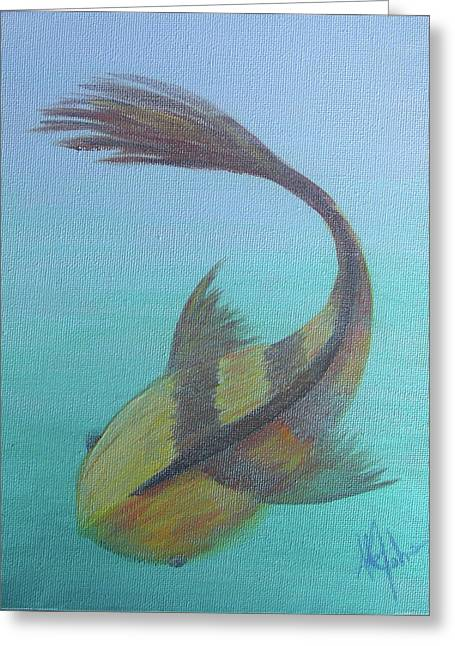 Pearly Fishy Greeting Card