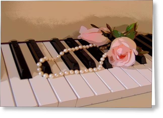 Pearly Pink Keys Greeting Card