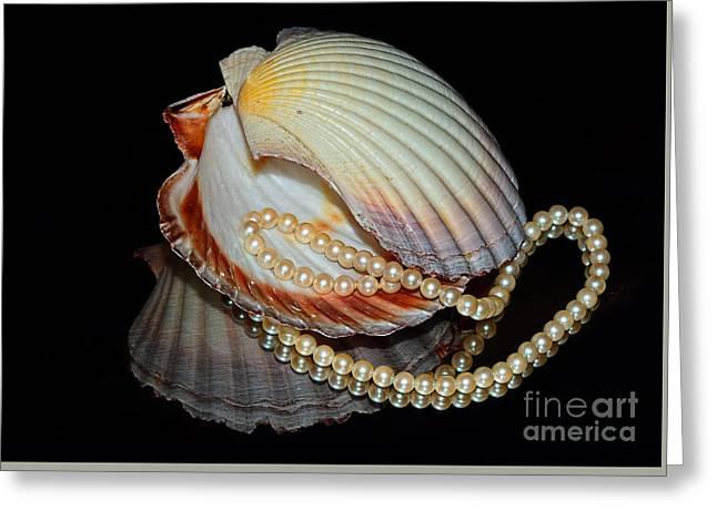 Pearly Shells By Kaye Menner Greeting Card by Kaye Menner