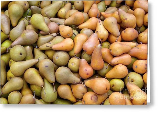 Pears At The Harvest Greeting Card