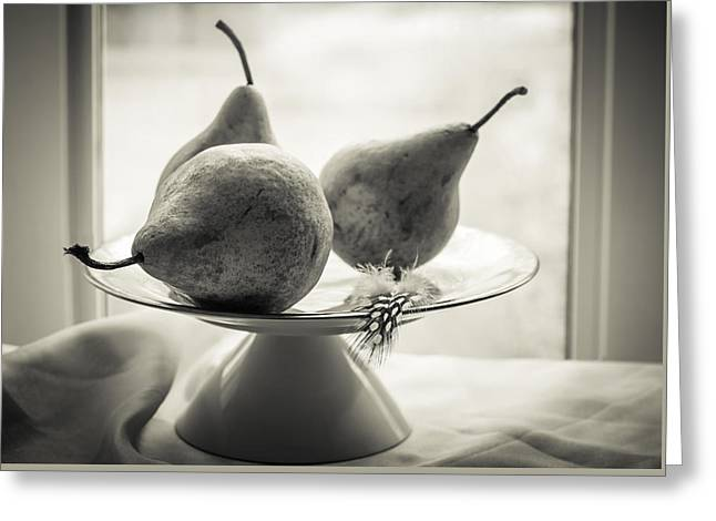 Pears By The Window  Greeting Card by Maggie Terlecki