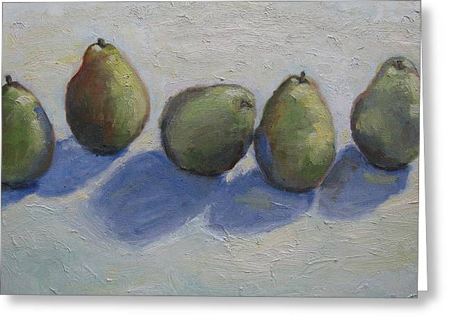 Pears In A Row Greeting Card