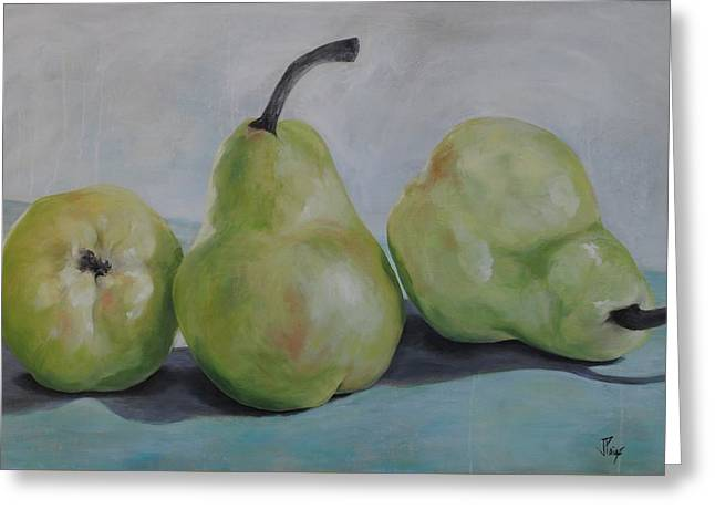 Pears Greeting Card by Julie Clanton