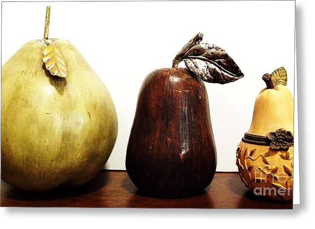 Pears Greeting Card by Marsha Heiken