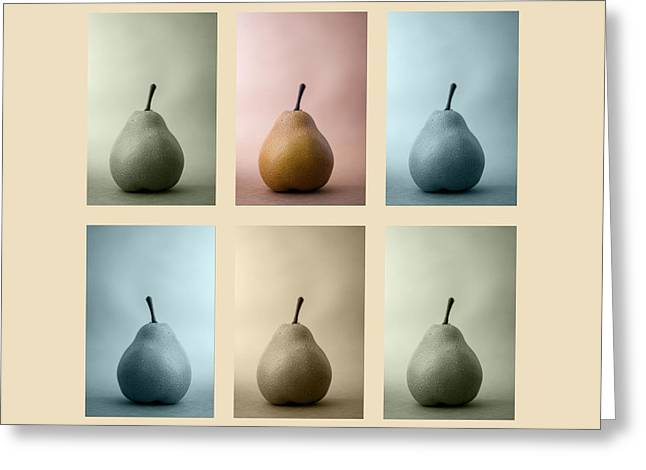 Pears Squared Greeting Card